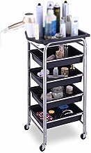 GAXQFEI 5-Shelf Hairdresser Salon Utility Cart -
