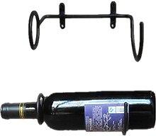 GAXQFEI 5Pcs, Black Wine Bottle Bar Wall Display
