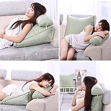 GAXQFEI Bed Backrest Cushion Triangular Wedge Sofa