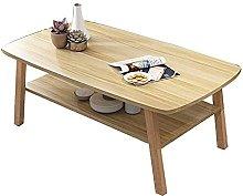 GAXQFEI Bedroom Floor 2-Tier Coffee Table, Simple
