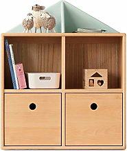 GAXQFEI Book Shelf Kids Bookshelf with 2 Cabinet