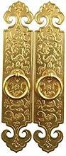 GAXQFEI Door Handle Antique Pure Copper for