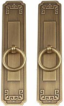 GAXQFEI Door Handle Embossed Copper Cabinet Door