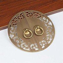 GAXQFEI Door Handle Pure Copper Antique Wardrobe