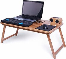 GAXQFEI Folding Bed Table Laptop Desk for Small