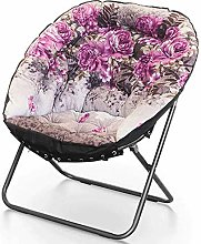 GAXQFEI Folding Chair Saucer Garden Chair Folding