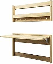 GAXQFEI Folding Wall Desk with Shelf, Fold Out