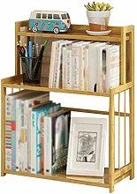 GAXQFEI Freestanding Decorative Desktop Bookshelf,
