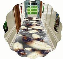 GAXQFEI Hallway Runner Rug, Hand Woven Durable