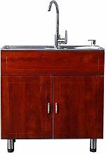 GAXQFEI Kitchen Prep & Utility Sink Freestanding