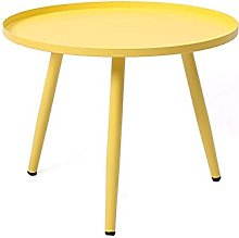 GAXQFEI Metal Side Table Accent Coffee Table Round