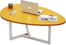 GAXQFEI Modern Solid Wood Coffee Table, Water Drop