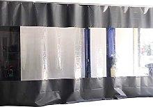 GAXQFEI Patio Door Curtain, Waterproof Tarpaulin