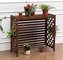 GAXQFEI Plant Stand, Wood Outdoor Privacy Air