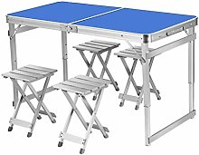 GAXQFEI Portable Folding Table Writing Desk for