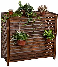 GAXQFEI Raised Plant Pot Stand, Natural Wood
