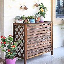 GAXQFEI Raised Plant Pot Stand, Wood Rustic Air