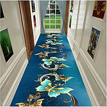 GAXQFEI Runner Rug for Hallway, Blue Butterfly |