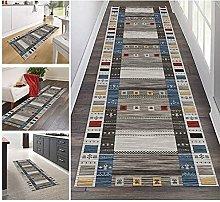GAXQFEI Runner Rug for Hallway, Modern Gray |