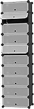 GAXQFEI Shoe Rack 10-Tier Shoe Rack,Plastic