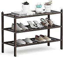 GAXQFEI Shoe Rack 3 Tier Shoe Rack, Shoe Organizer
