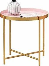 GAXQFEI Side Table,Coffee Tables Tray Metal