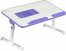 GAXQFEI Small Bed Table Laptop Desk with USB Fan