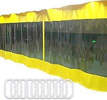 GAXQFEI Transparent Tarp Curtain, PVC Waterproof