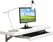 GAXQFEI Wall Mounted Floating Computer Desk, Wall