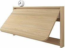 GAXQFEI Wall Mounted Floating Folding Desk Wooden