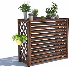 GAXQFEI Wooden Air Conditioner Cover for Outside