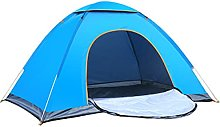 GAYAN 4 Person Dome Camping Tent,Blue Full