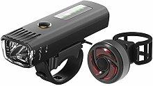 GAYBJ Bike Light Set, Rechargeable Bicycle Lights