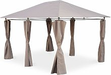 Gazebo 3 x 4 m - Divio - Beige-Brown canopy -