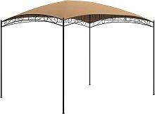 Gazebo 3x4x2.65 m Taupe 180 g/m²
