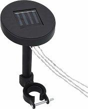 Gazebo LED String Lights with Solar Panel - Black