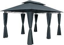 Gazebo Pavilion Garden Topas 3x4m Anthracite