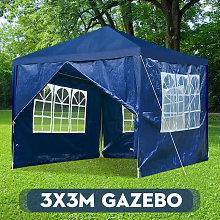 Gazebo Tent 3x3M Waterproof Shelter Blue
