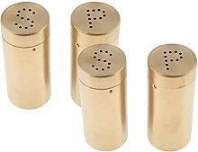 Gazechimp 4 Pieces Gold Elegant Stainless Steel