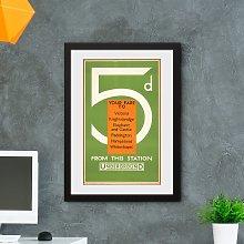 GB Eye TFL Fare by Underground Framed Print Wall