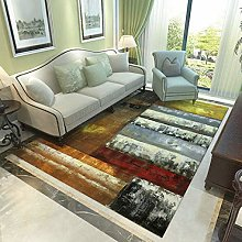 GBFR Brown gray modern abstract large rug ink home