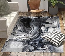 GBFR Brown modern abstract large rug ink home
