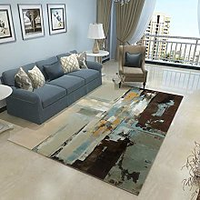 GBFR Dark modern abstract large rug ink home