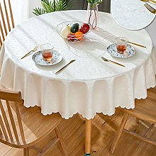 GBFR Plastic tablecloth   Beige Round flower table