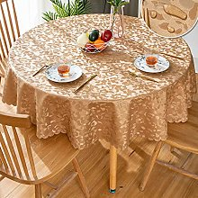 GBFR Plastic tablecloth   Brown Round flower table