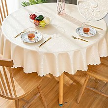 GBFR Plastic tablecloth   Champagne Round flower