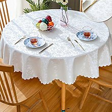 GBFR Plastic tablecloth   White Round flower table