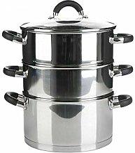 GBS 3 Tier Steamer Stainless Steel Cooker Set