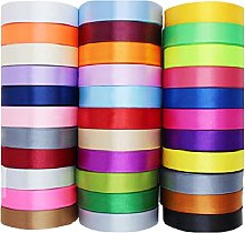 GCS 25mm Satin Ribbon - Set of 20 Colours - 25