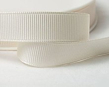 GCS Grosgrain ribbon; 20mm wide; Cream; 10 meters